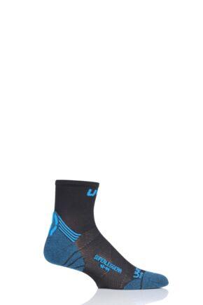 Mens 1 Pair UYN Run Superleggera Socks Indigo 45-47