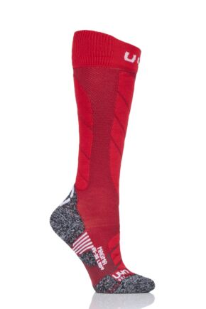 Ladies 1 Pair UYN Ski Magma Socks Red 37-38