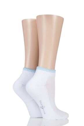 Ladies 2 Pair Glenmuir Ardelle Half Cushion Secret Socks