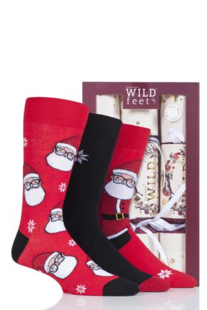 Mens 3 Pair SockShop Wild Feet Christmas Cracker Socks