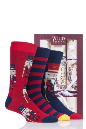 Mens 3 Pair SockShop Wild Feet Christmas Cracker Socks
