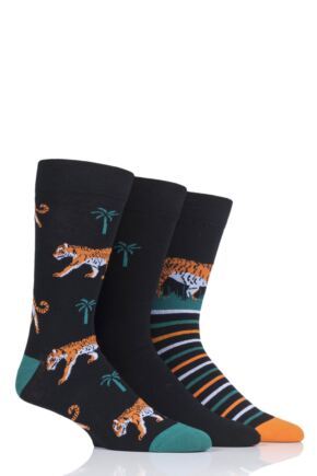 Mens 3 Pair SockShop Wild Feet Novelty Cotton Socks