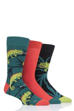 Mens 3 Pair SOCKSHOP Wild Feet Chameleon Socks