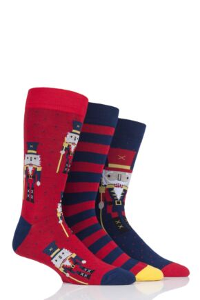 Mens 3 Pair SockShop Wild Feet Nutcracker Cotton Socks
