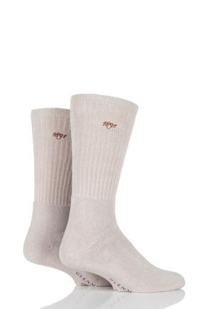 Mens 2 Pair Glenmuir Dunbar Cushioned Golf Socks