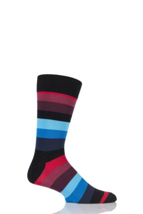 Mens and Ladies 1 Pair Happy Socks Stripe Combed Cotton Socks