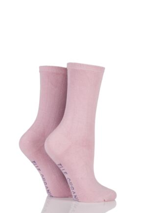 Ladies 2 Pair Elle Organic Cotton Socks