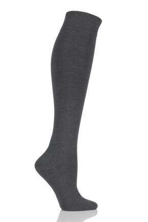 Girls and Boys 1 Pair SOCKSHOP Plain Bamboo Knee High Socks with Comfort Cuff and Smooth Toe Seams Grey 9-12 Kids
