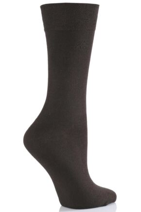 Ladies 2 Pair Elle Plain Bamboo Fibre Sock In 9 Colours