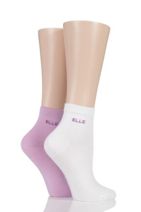 Ladies 2 Pair Elle Bamboo Anklet Socks