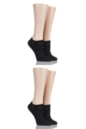 Ladies 4 Pair Elle Bamboo No Show Socks