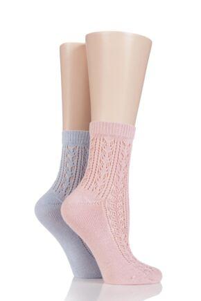 Ladies 2 Pair Elle Dainty and Delicate Soft Pelerine Anklets