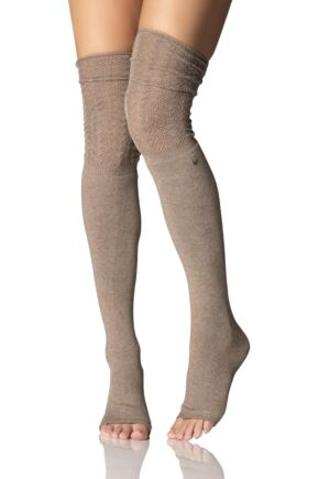 Ladies 1 Pair ToeSox Sasha Over The Knee Open Foot Slouch Socks