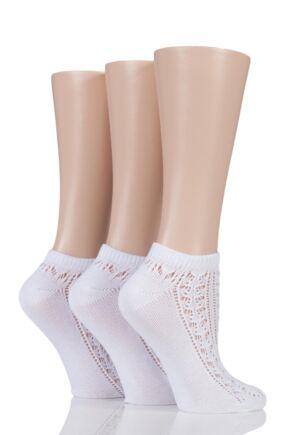 Ladies 3 Pair Elle Soft Pelerine Trainer Socks