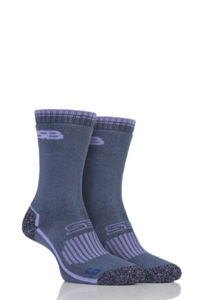 Ladies 2 Pair Storm Bloc with BlueGuard Hiking Socks Lilac 4-8 Ladies