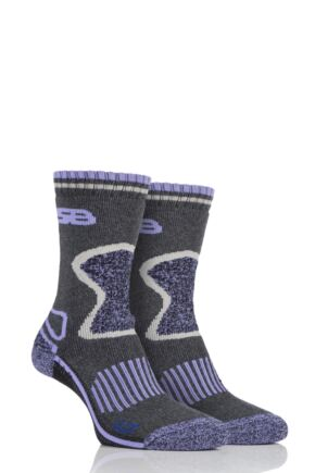 Ladies 2 Pair Storm Bloc with BlueGuard Wool Blend Socks Lilac 4-8 Ladies