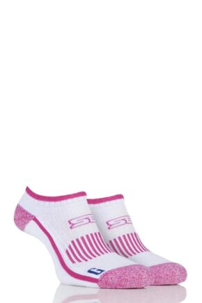 Ladies 2 Pair Storm Bloc with BlueGuard Ankle Trainer Socks Cerise 4-8 Ladies