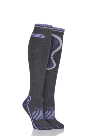 Ladies 1 Pair Storm Bloc with BlueGuard Equestrian Long Wool Blend Socks Charcoal 4-8 Ladies