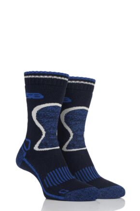 Mens 2 Pair Storm Bloc with BlueGuard Wool Blend Socks