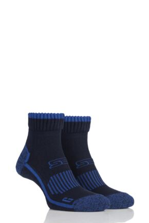 Mens 2 Pair Storm Bloc with BlueGuard Ankle High Walking Socks