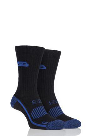 Mens 2 Pair Storm Bloc with BlueGuard Sports Crew Socks
