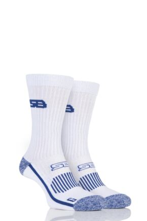 Mens 2 Pair Storm Bloc with BlueGuard Sports Crew Socks