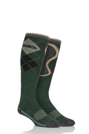 Mens 1 Pair Storm Bloc with BlueGuard Long Cotton Country Socks Green 6-11 Mens