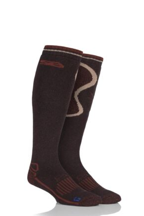 Mens 1 Pair Storm Bloc with BlueGuard Long Wool Blend Country Socks Brown 6-11 Mens