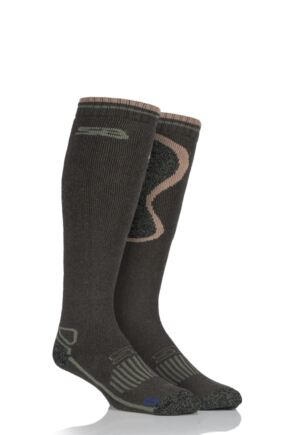 Mens 1 Pair Storm Bloc with BlueGuard Long Wool Blend Country Socks Green 6-11 Mens