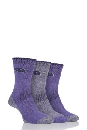 Ladies 3 Pair Storm Bloc Performance Boot Socks Lilac 4-8 Ladies