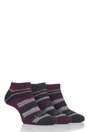 Ladies 3 Pair Storm Bloc Performance Trainer Socks Cerise 4-8 Ladies