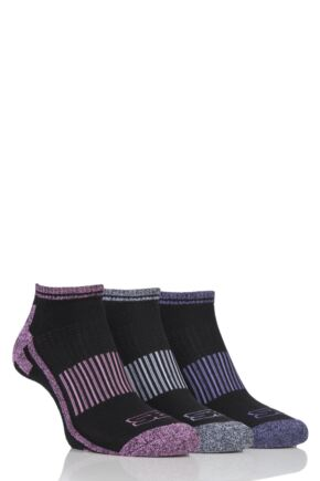 Ladies 3 Pair Storm Bloc Trainer Socks Black 4-8 Ladies