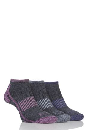 Ladies 3 Pair Storm Bloc Trainer Socks Grey 4-8 Ladies