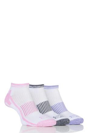 Ladies 3 Pair Storm Bloc Trainer Socks White 4-8 Ladies