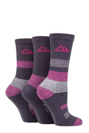 Ladies 3 Pair Storm Bloc Cotton Striped Boot Socks