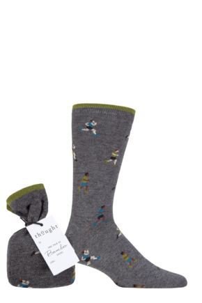 Mens 1 Pair Thought Heck Athlete Bamboo and Organic Cotton Gift Bagged Socks