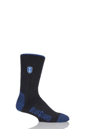 Mens 1 Pair Blueguard Anti-Abrasion Durability Socks Black 9-11 Mens