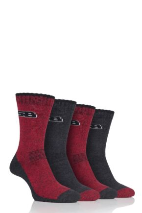 Mens 4 Pair Storm Bloc Performance Boot Socks
