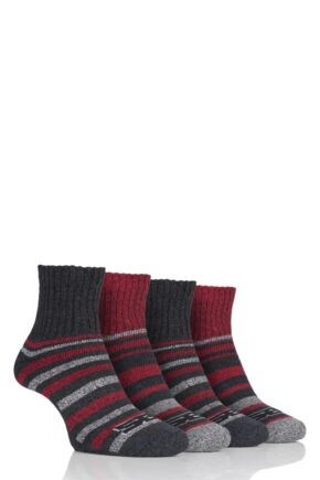 Mens 4 Pair Storm Bloc Performance Ankle Socks