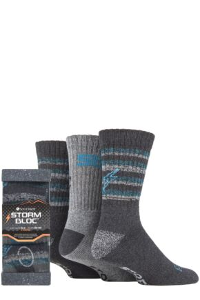 Mens 3 Pair Storm Bloc Square Gift Boxed Socks