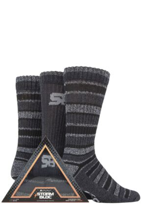 Mens 3 Pair Storm Bloc Triangle Gift Boxed Socks