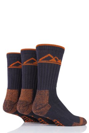 Mens 3 Pair Mens Storm Bloc Luxury Boot Socks