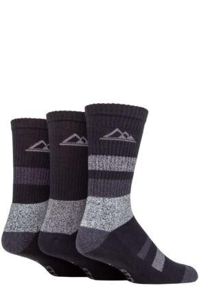 Mens 3 Pair Mens Storm Bloc Striped Boot Socks