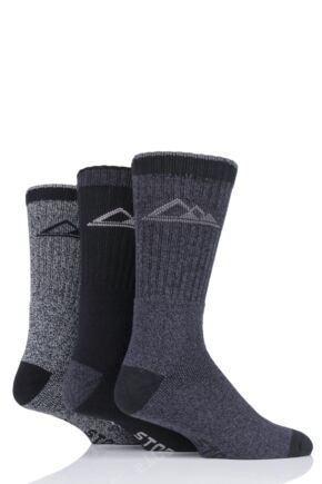 Mens 3 Pair Storm Bloc Marl Boot Socks