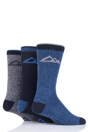 Mens 3 Pair Storm Bloc Marl Boot Socks