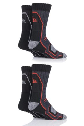 Mens 4 Pair Storm Bloc Technical Boot Socks