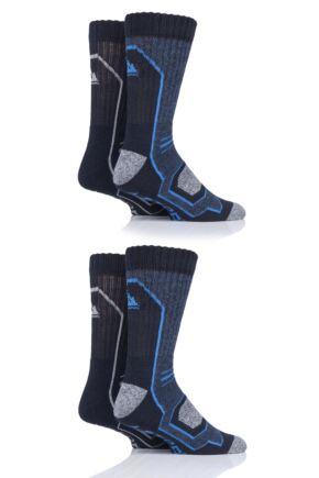 Mens 4 Pair Storm Bloc Technical Boot Socks