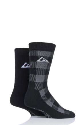 Mens 2 Pair Storm Bloc Thermal Boot Socks