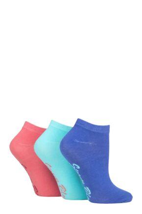 Ladies 3 Pair Storm Bloc Plain Cotton Trainer Socks