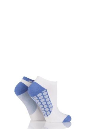 Ladies 2 Pair Elle Sport Cushioned Bamboo Trainer Socks